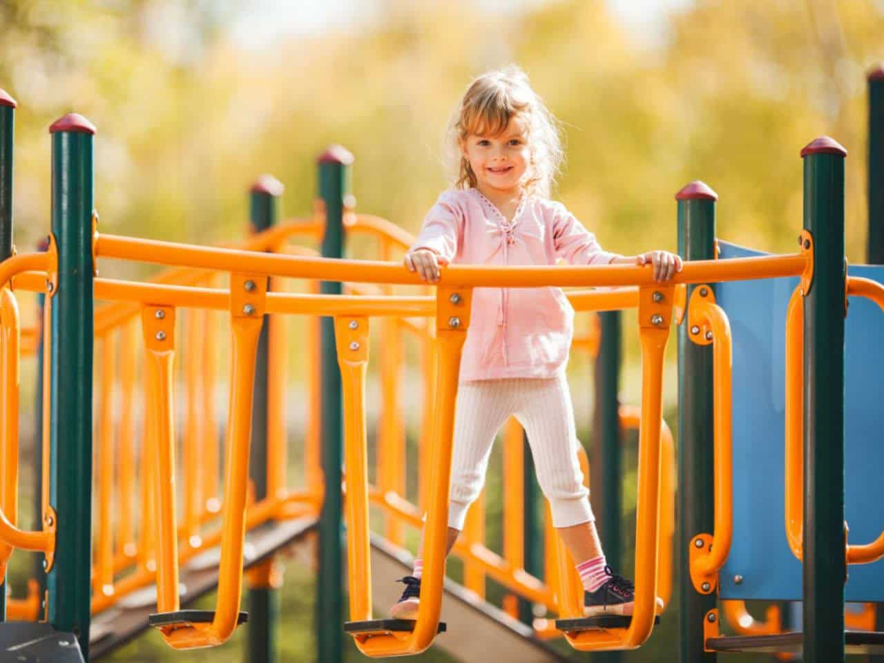 Little girl at a playground